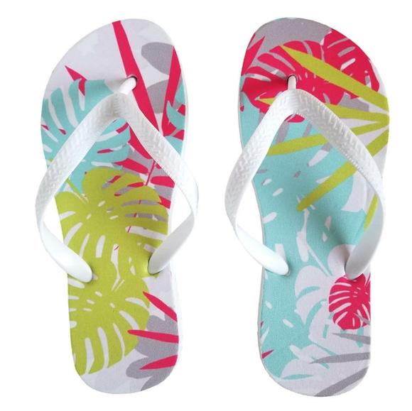 Stella Saksa Shoes - 🆒Tropical Palms Flip Flops